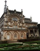 Het luxueuze palace Hotel in Bussaco.